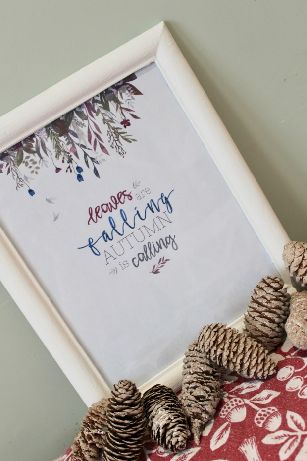 Autumn frame diy! – Beautifully Handmade